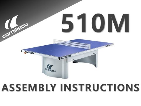 Cornilleau Proline 510 Static Outdoor Table Tennis Table - Assembly Video
