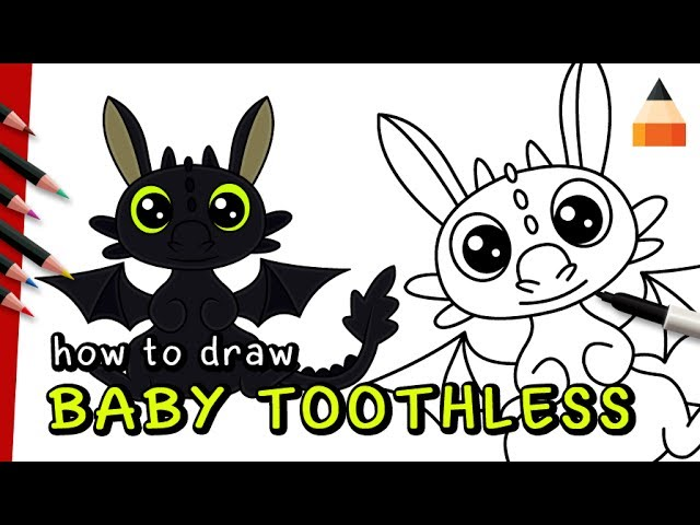 Nice How To Train Your Dragon Watch How To Draw Baby Toothless