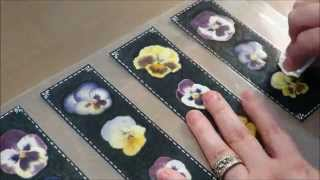 Tutorial Real Pansy Bookmarks