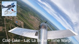 RV Aircraft Video - Flying to Lac La Biche in RV8 - timelapse