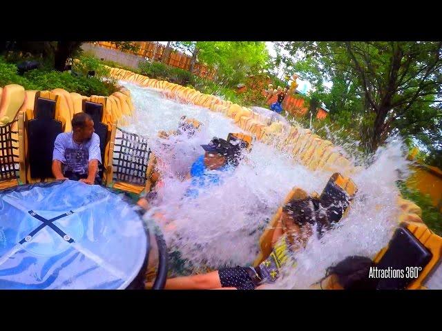 Popeye Raging Rapids Water Ride - Universal Orlando - Prepare to get SOAKED!