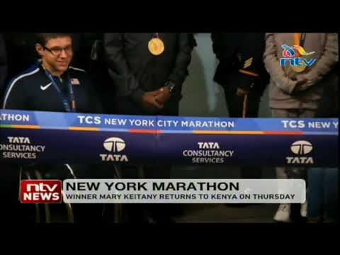 New York marathon winner Keitany is expected to return back to the country
