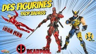 Des Figurines Marvel De Deadpool Wolverine Et Iron Man Hyper Détaillées Play Arts Jouets Unboxing