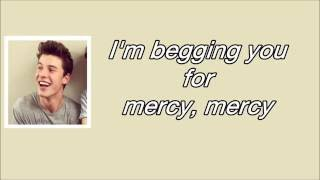 mercy lyrics shawn mendes