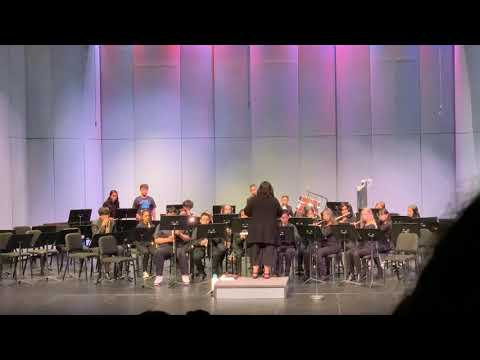 Ms.K conducting her band.  Regal Fanfare and March - Scott Watson