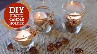 Rustic Candle Holder DIY Decorations | Fall Decor | BalsaCircle.com