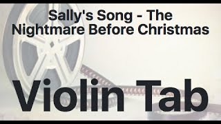 Learn Sally's Song - The Nightmare Before Christmas on Violin - How to Play Tutorial
