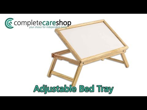 Adjustable Wooden Bed Table Review