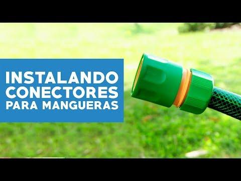 ¿Cómo instalar conectores para mangueras de riego?