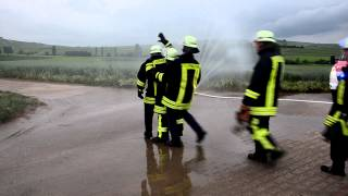 preview picture of video 'Cold Water Challenge 2014 Feuerwehr Gau Weinheim'
