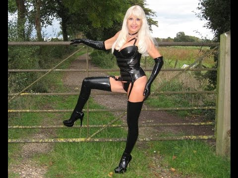 Sexy vrouwen Black Latex Basque Latex Stockings sexy babes