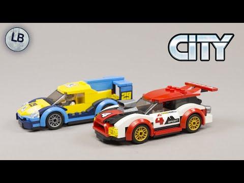 Vidéo LEGO City 60256 : Les voitures de course