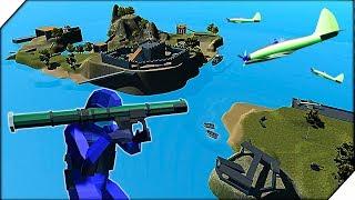 ОСТРОВ ЗАМОК. 80 БОТОВ - Игра Ravenfield  НОВАЯ КАРТА Castle Island в РЕВЕНФИЛД   Битва солдатиков