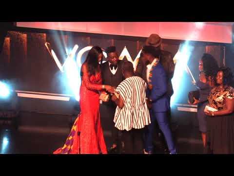 Commander 1 Kofi Boakye presents award to Ebony's Father