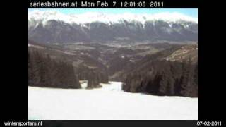 preview picture of video 'Stubaital Mieders webcam time lapse 2010-2011'