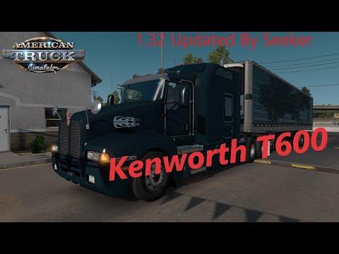 American Truck Simulator Kenworth T600 (NEW JAKE BRAKE SOUND