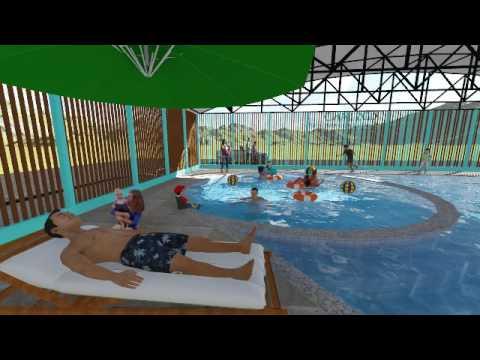 Centro Recreacional Acuatico Infantil-Diseño y Recorrido 3d