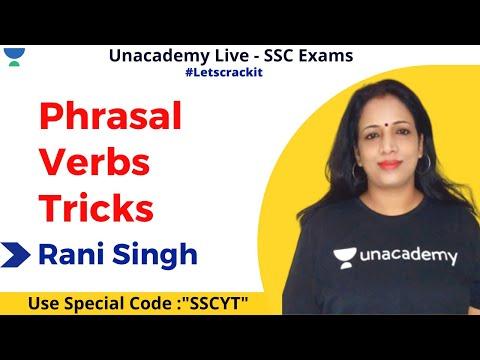 Phrasal Verbs with Tricks | English | SSC CGL & CHSL | Unacademy | Rani Ma'am