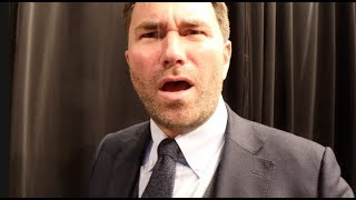'HE SHOVED HIM & WAS TALKING ABOUT HIS MUM!' - EDDIE HEARN REACTS TO MILLER SHOVING ANTHONY JOSHUA