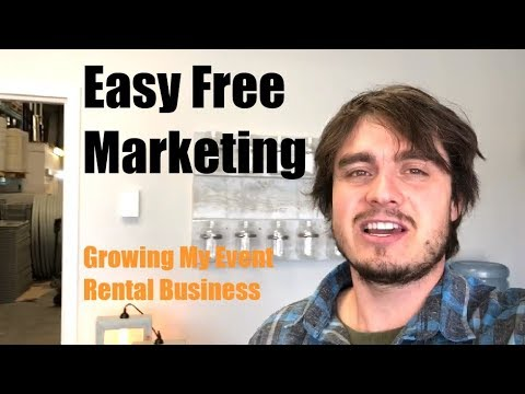 Easy Free Marketing #1 - Growing My Event Rental Business
