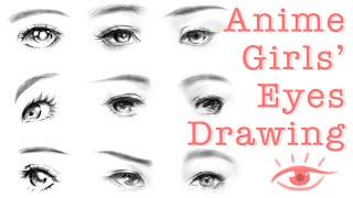 How To Draw Anime Girl Eyes - Manga Girl Eyes Digital Drawing Tutorial 動漫女生眼睛 Photoshop電繪