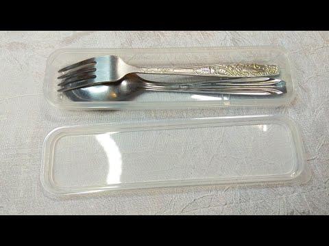 Портативный чехол для ложки и вилки / Portable case for spoon and fork