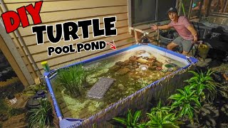 Upgrading My Backyard TURTLE Pool Pond!!!