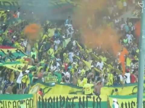 """""""REBELIÓN AURIVERDE NORTE - REAL CARTAGENA 2016"""" Barra: Rebelión Auriverde Norte • Club: Real Cartagena"""