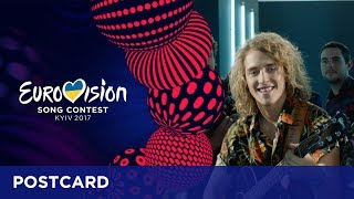 Postcard of Manel Navarro from Spain - Eurovision Song Contest 2017