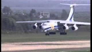 Ас посадил 200тонн на переднюю стойку Ил-76мф !