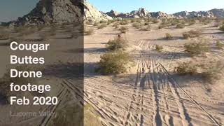 DJI phantom 4 Drone shots in cougar buttes, Lucerne Valley