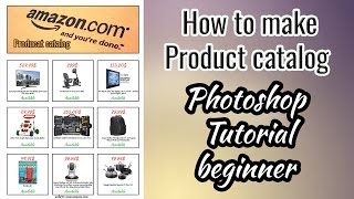 How to make Product catalog , Photoshop Tutorial beginner