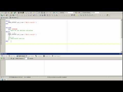 PL/SQL Oracle tutorial, Oracle introduction, PL/SQL basics