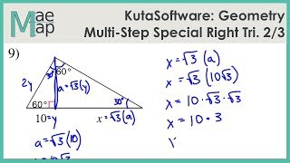 KutaSoftware: Geometry- Multi-Step Special Right Triangles Part 2