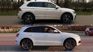 Haldex vs Torsen -  4Motion vs Quattro - VW Tiguan vs Audi Q5 - test on rollers