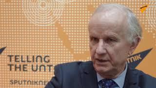 Polski ekonomista i polityk, profesor Grzegorz Kołodko w Moskwie.