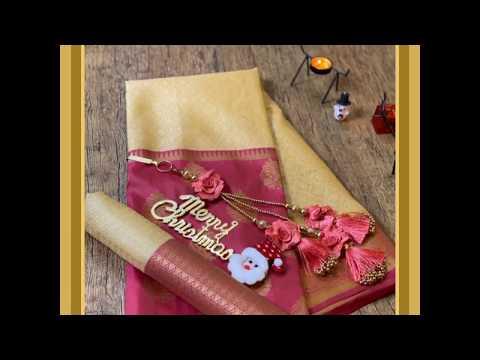 Latest new festive arrivals   sarees with prices   festive season Saree collection   Christmas saree