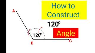 How to construct 120 degree angle
