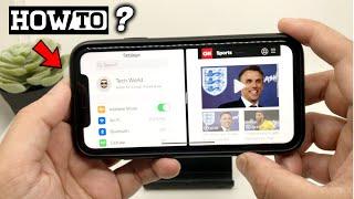 How to do split screen Multitasking on iPhone ?