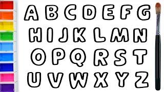 How To Draw ABC And Glitter Rainbow Alphabet Coloring Warna Warni Belajar Menggambar Dan Mewarnai