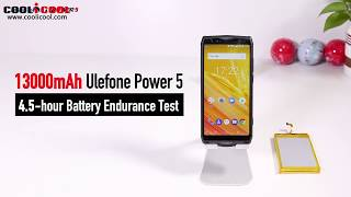 13000mAh Ulefone Power 5 4 5 hour Battery Endurance Test