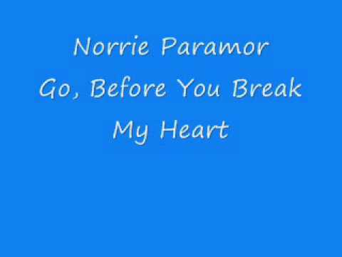 Norrie Paramor - Go, Before You Break My Heart