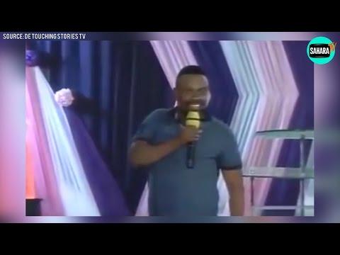 Comedian Okon Embarrasses Apostle Suleiman During  Church Service
