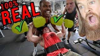 Brad Castleberry Weighs His Plates and Lifts 200lb Dumbbells (PROVES THEY AREN'T FAKE!)
