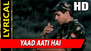 Yaad Aati Hai With Lyrics | Kumar Sanu, Udit Narayan, Vinod