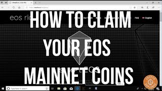 How To Claim Your EOS Mainnet Coins