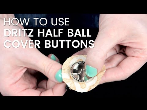 How To Cover Dritz Half Ball Buttons with Fabric