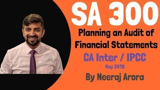 SA 300 | Planning an Audit of Financial Statements | Standards on Auditing