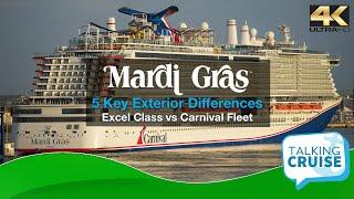 Carnival's Mardi Gras - 5 Key Exterior Differences (Excel Class vs Carnival Fleet)