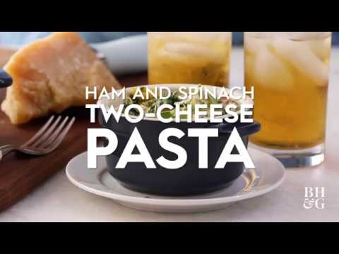 Ham and Spinach Two-Cheese Pasta | Cooking: How-To | Better Homes & Gardens
